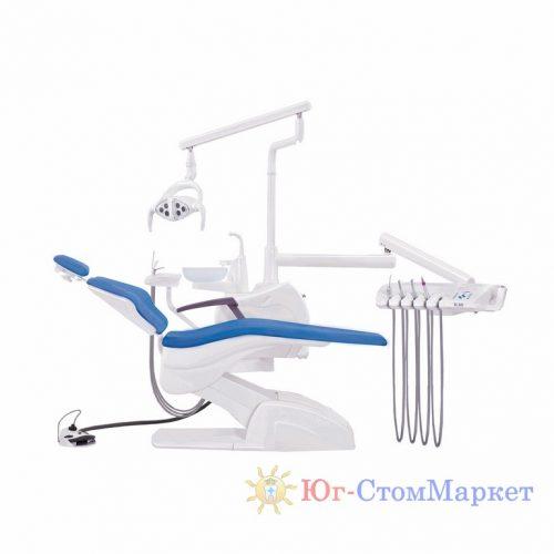 Стоматологическая установка Pragmatic QL2028 с нижней подачей со скайлером с мягкой обивкой (2 СТУЛА) | Pragmatic (Китай)