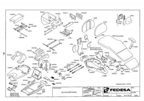 Я-1. Запчасти на стоматологическую установку Fedesa Sillon Jerez Basic | Fedesa (Испания)