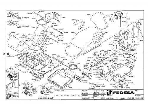 Я-1. Запчасти на стоматологическую установку Fedesa Sillon Midway ir/Lux | Fedesa (Испания)