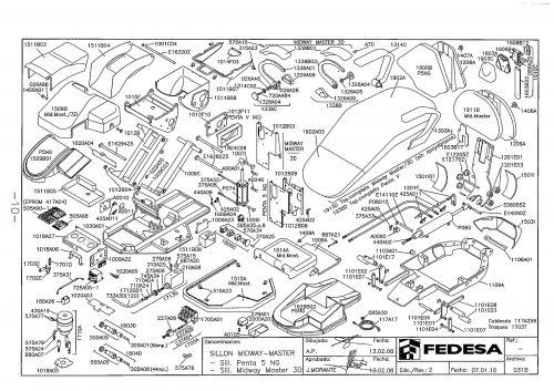 Я-1. Запчасти на стоматологическую установку Fedesa Sillon Midway-Master - Still. Penta 5 NG-Sill. Master 3D   Fedesa (Испания)