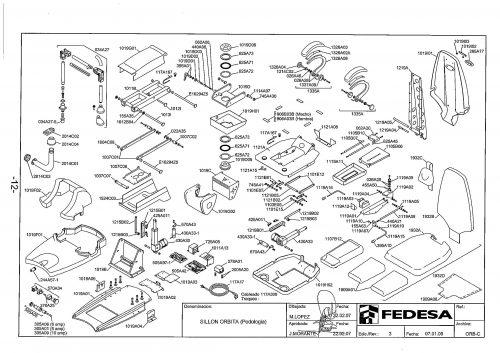Я-1. Запчасти на стоматологическую установку Fedesa Sillon Orbita (Podologoa) | Fedesa (Испания)