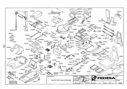 Я-1. Запчасти на стоматологическую установку Fedesa Sillon Podo Gala (Podologia) | Fedesa (Испания)