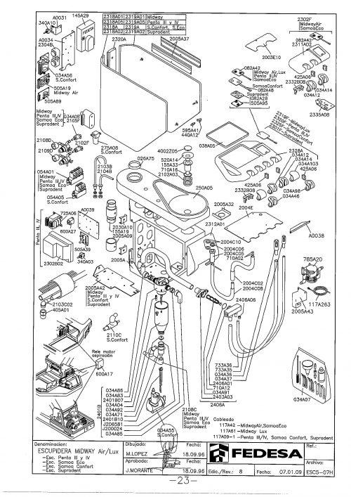 Я-1. Запчасти на стоматологическую установку Fedesa Escupidera Midway Air/Lux