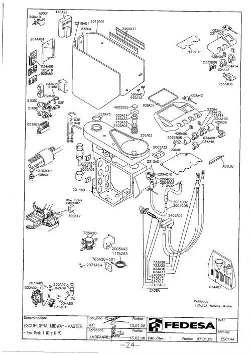 Я-1. Запчасти на стоматологическую установку Fedesa Escupidera Midway-Master