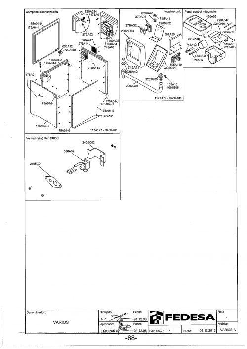 Я-1. Запчасти для кожуха для компрессора Fedesa | Fedesa (Испания)