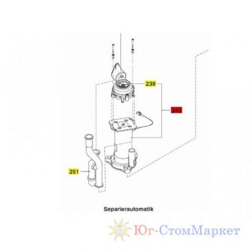 Двигатель сепаратора в сборе с помпой установки Sirona c