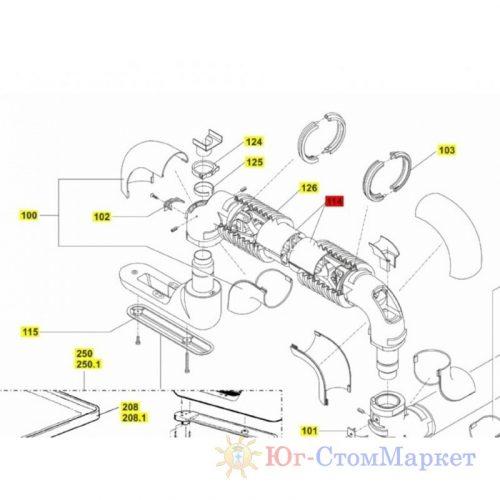Профиль пластиковый пантографа стоматологической установки Sirona 05433813   Sirona (Германия)