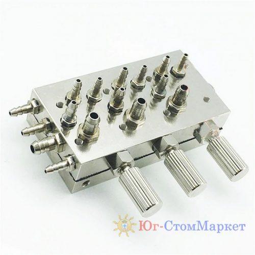 Гребенка на 3 инструмента для стоматологической установки cx193