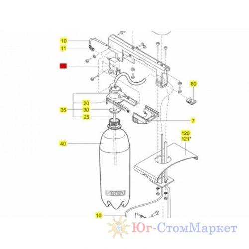 Клапан воздушный подачи давления в бутылку стоматологической установки Sirona (германия) 05434464 | Sirona (Германия)