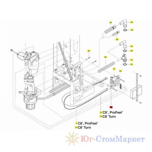 Плата управления сепаратором установки Sirona 05434951 | Sirona (Германия)