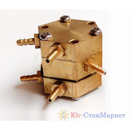 Шестигранный клапан (клапан одной единицы давления) 5 выходов для стоматологической установки cx196-2