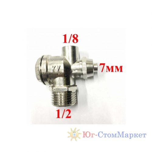 Клапан для однонаправленной системы сжатия с соединениями 1/8-6мм-1/2 cx237-5